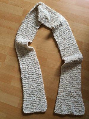 Écharpe en tricot blanc-blanc cassé