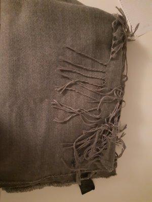 H&M Gebreide sjaal lichtgrijs Gemengd weefsel