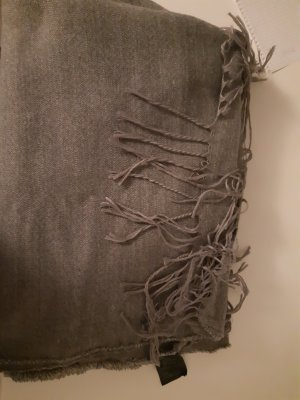 H&M Écharpe en tricot gris clair tissu mixte