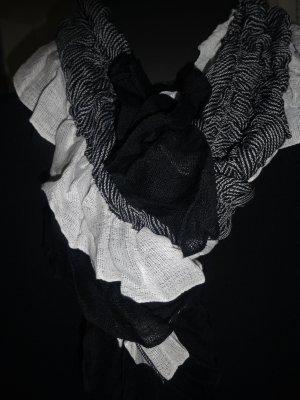 Écharpe d'été noir-blanc