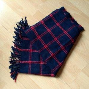 Esprit Bufanda de lana rojo oscuro-azul