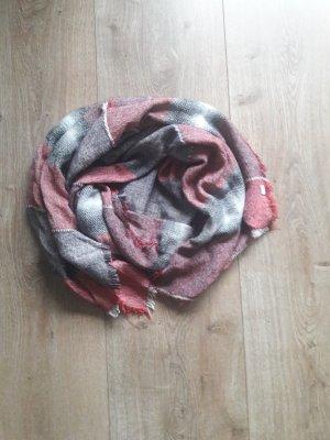 Esprit Bufanda de lana gris-rojo