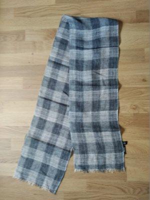 Schal eterna Grau Schwarz 170x25 cm, Beerdigung Trauer