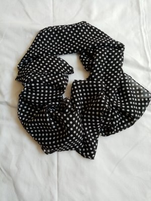 Zijden sjaal wit-zwart