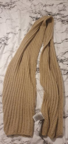 Esmara Szydełkowany szalik szaro-brązowy
