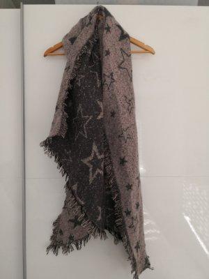 Sciarpa di lana color oro rosa-grigio scuro