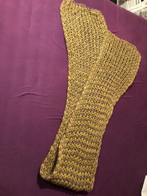Crochet Scarf sand brown-ocher