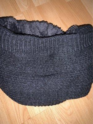 Gebreide sjaal antraciet
