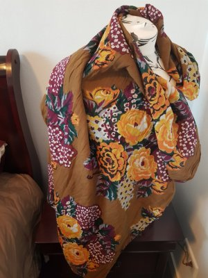 Pieces Tube Scarf brown-ocher