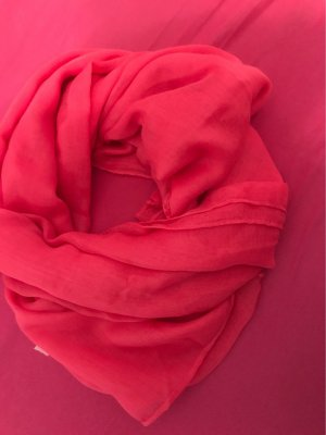 0039 Italy Summer Scarf bright red polyester