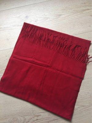Fraas Fringed Scarf dark red