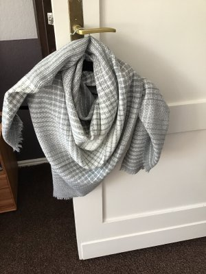 Knitted Scarf light grey-grey