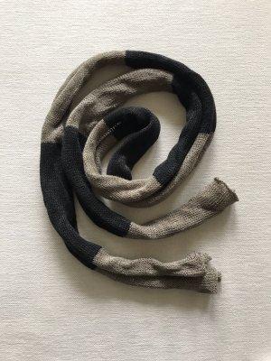 Crochet Scarf black-green grey