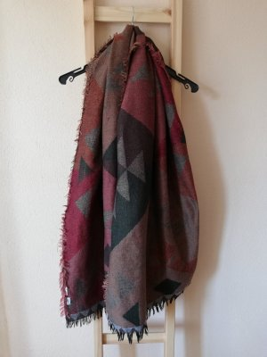 Pimkie Fringed Scarf multicolored