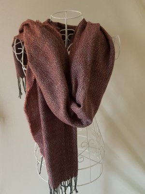 Esmara Fringed Scarf anthracite-raspberry-red