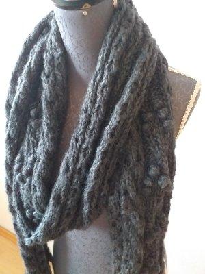 H&M Bufanda de lana gris oscuro-gris antracita