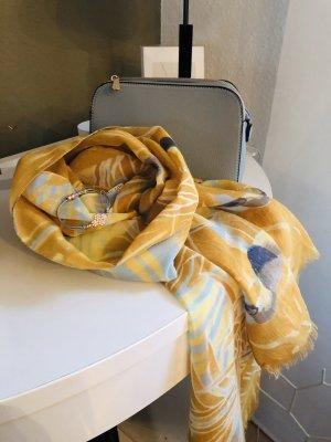 Schal grau senfgelb gelb
