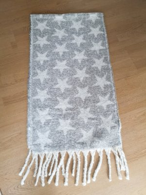 Asos Knitted Scarf white-silver-colored