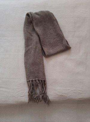 keine Écharpe en crochet marron clair