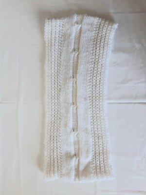 Schal Häkel - oder strick weiss