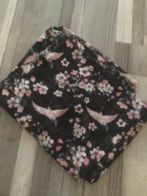 Esprit Bufanda tubo negro-rosa