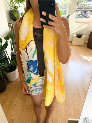 Halsdoek geel-blauw