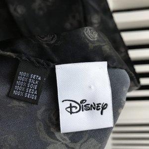 Disney Bufanda de seda negro-color plata Seda