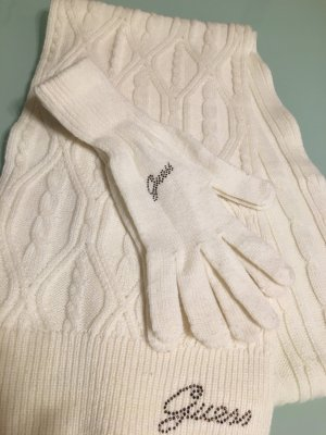 Guess Knitted Scarf natural white
