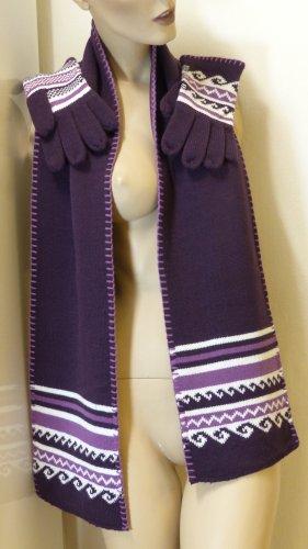 Écharpe en tricot multicolore acrylique