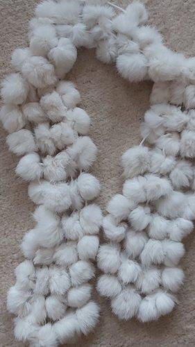 Schal - Hasenfellbommel