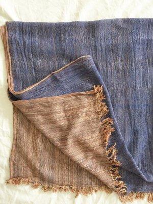 Zara Bufanda de flecos multicolor tejido mezclado