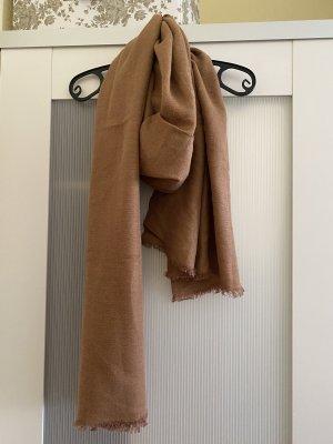 H&M Bufanda de flecos camel-beige