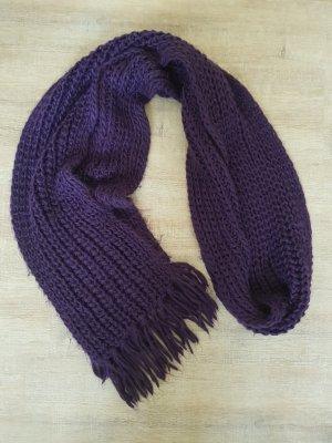 Unbekannte Marke Écharpe en tricot violet foncé