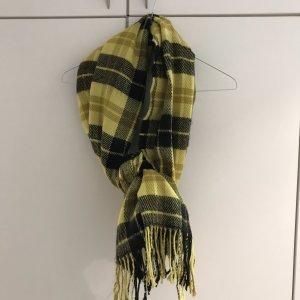 H&M Divided Sjaal met franjes zwart-neongeel