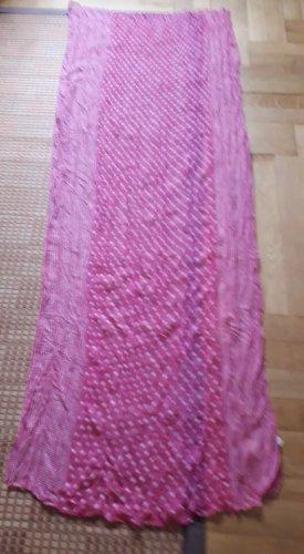 Schal in pink/weiß