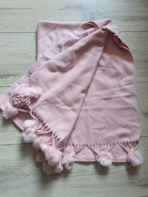Écharpe en laine vieux rose-rosé