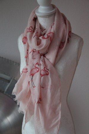 Schal in rosa mit Flamingos