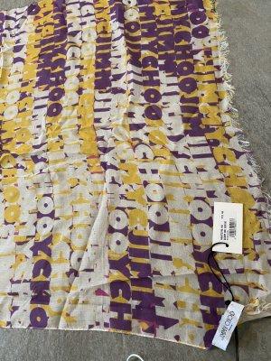 Schal Jimmy Choo Cashmere NEU Tuch Kaschmir gelb violett