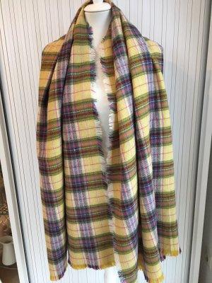 Mango Bufanda de lana multicolor fibra textil