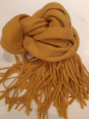 Pieces Fringed Scarf sand brown
