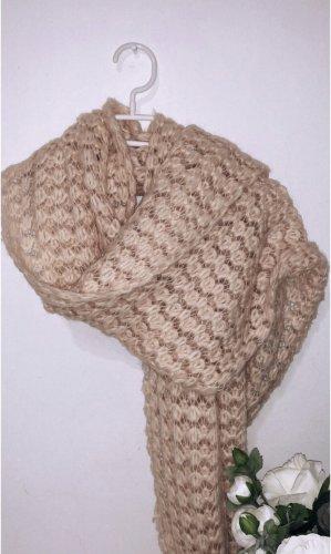 Schal kuschelig knit strick grobstrick zara rosa rose