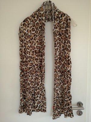 Schal Leopardenmuster braun