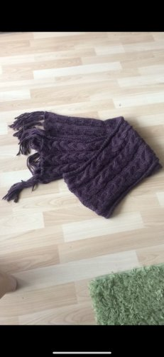 Crochet Scarf brown violet-lilac