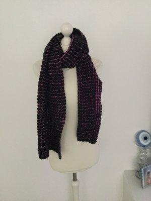keine Écharpe en tricot noir-violet