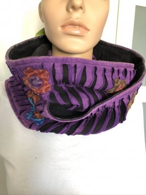 Tube Scarf black-dark violet