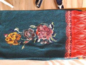 Schal, (Loop) mit schönen  Blumenornamenten