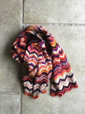 Comma Knitted Scarf multicolored