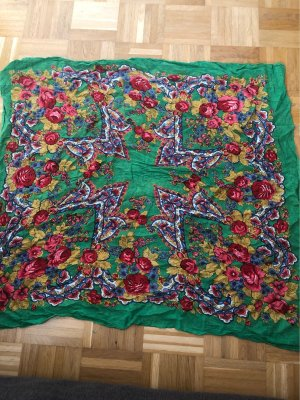 Schal, mit Blumen