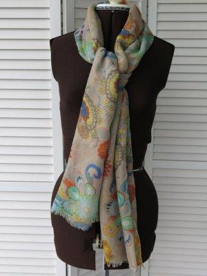 Schal, mit bunten floralen Motiven