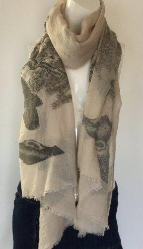 Schal mit Eulen Print  100x200 cm